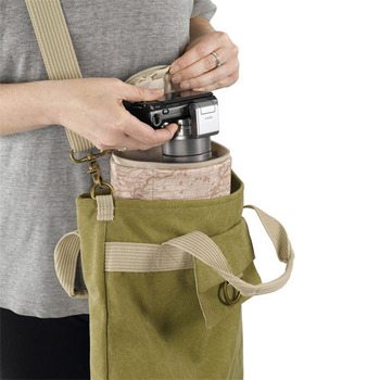 OEM canvas military style shoulder bag with hidden camera bag