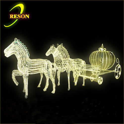 lighted horse decorations led acrylic horse carriage outdoor christmas decorations