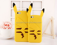 3D silicone pikachu design phone cover case for iphone 4 5 6plus,for iphone 4 5 6 plus silicone case