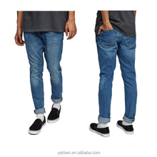 new design fashion mens custom black Tight Classic blue cotton ripped Jeans