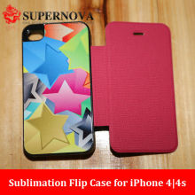 Custom Flip Case for iPhone 4|4s with Aluminum Plates