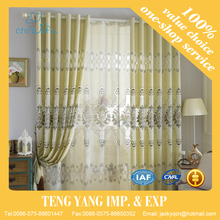 Embroidery style window shades interior decoration curtain window panel curtain and drapes