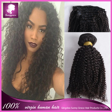 afro kinky curly clip in hair extensions virgin brazilian ocean tropic loose hair wholesale brazilian hair weave