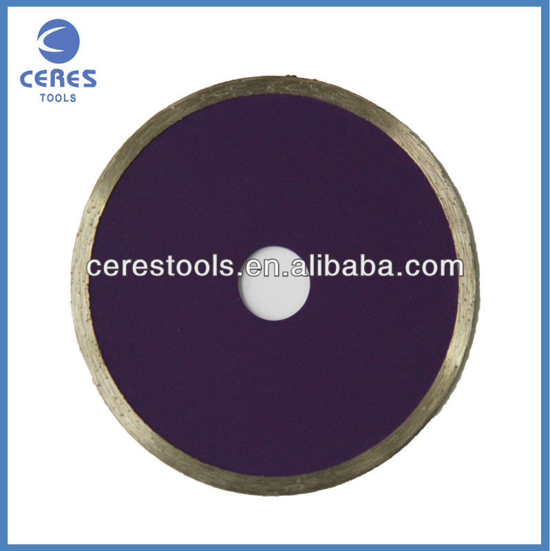 Continous diamond saw blade for tile ceramic and glass