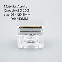 5ml/10Ml clear acrylic plastic cylinder container