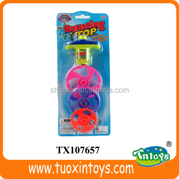 wind up bounce super spinning top toys