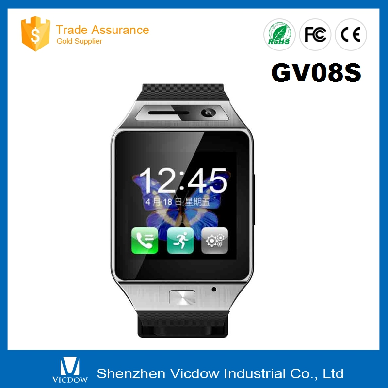"GV08S Smart Watch Mobile Phone 1.55"" IPS HD Touch Screen 2.0M Camera with Factory Price"