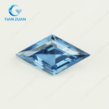 High quality rhombus customized Synthetic Crystal Glass gemstone