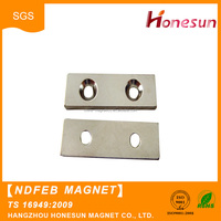micro sintered permanent neodymium magnets with hole/countersunk