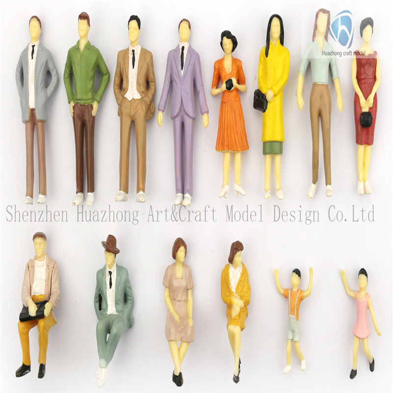 New 1: 30 Scaled Standing, Seated Plastic Model miniature human figure