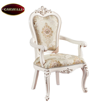 118(W)-B Hand carved royal classic antique luxury solid wooden dining chair