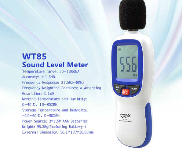 Health prevention cheap sound level meter WT85 usb digital sound level decibel meter