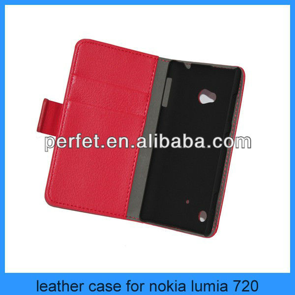pu leather wallet case cover for nokia lumia 720