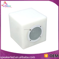 2016 high quality waterproof wireless mini cube bluetooth speaker with led light