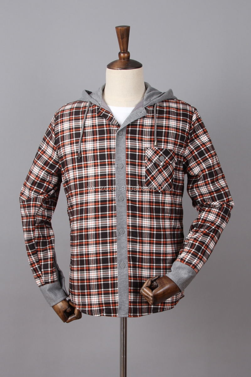 long sleeve custom quaity plaids flannel clothes custom gents dresses design