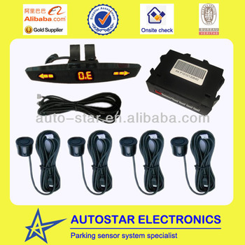 car backup system parking sensor with roof mounting display