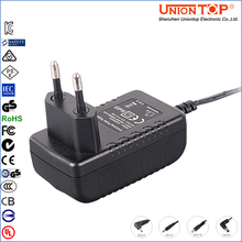 Wall mount plug in 6W Power Adaptor with ETL CE FCC certifications