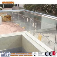 Aluminium U channel glass railing/balustrade system for you