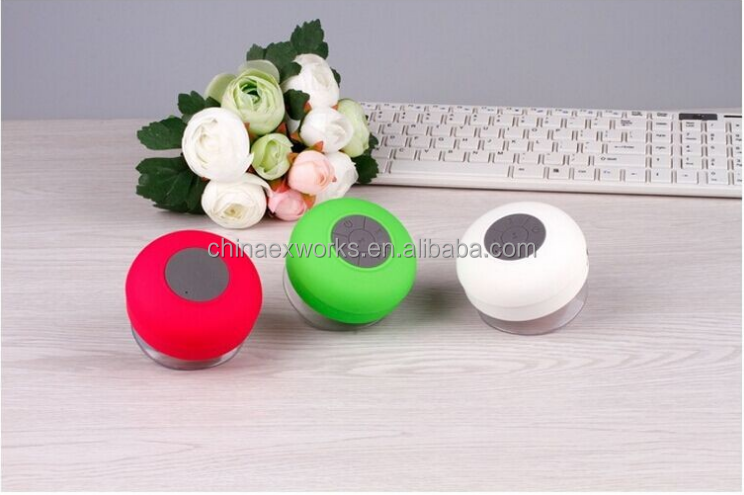 Portable mini speaker with usb charger bluetooth shower speaker with subwoofer