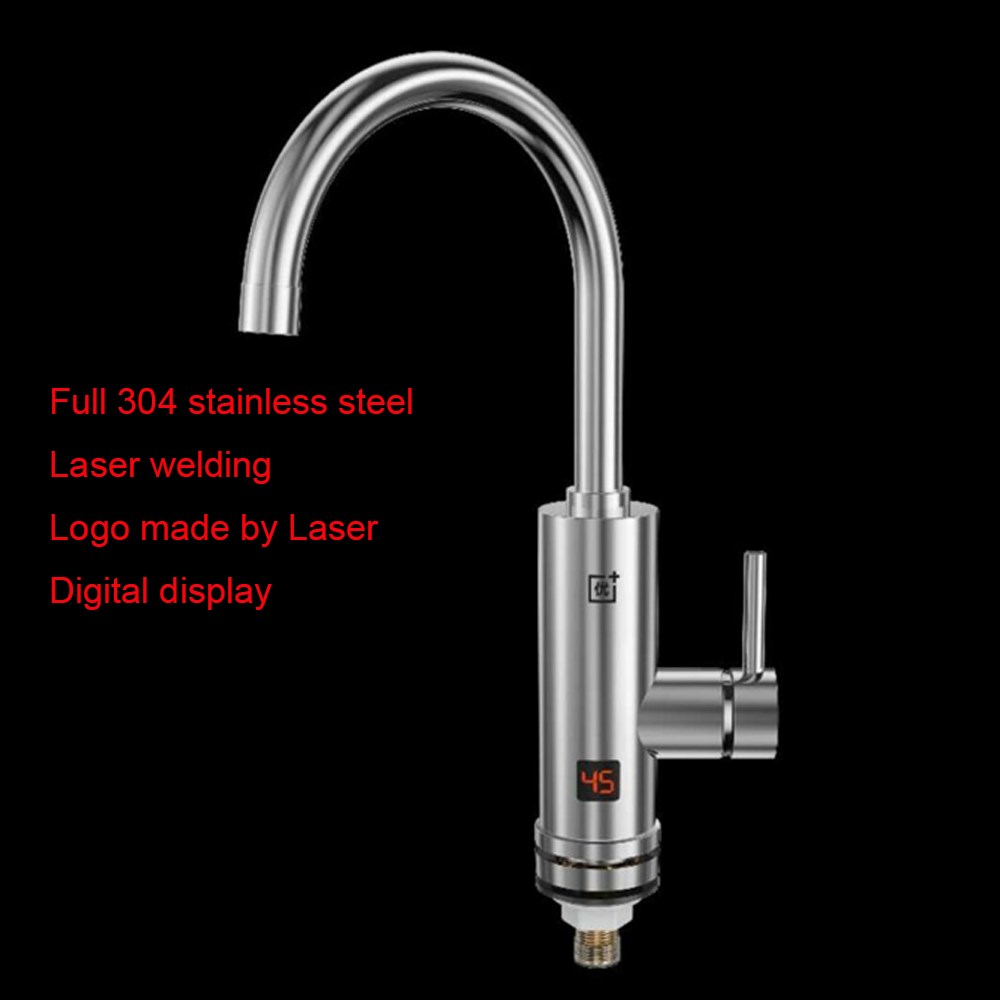 Stainless steel LED Digital temperature display electric heater faucet