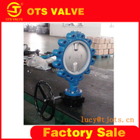 BV-LY-0099 high performance high sealing CE certificate cast iron stainless steel body lug type butterfly valve with actuator
