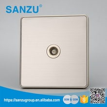 Manufature directly sale electrical stainless steel 1 gang TV satellite socket