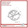 XD sb253 925 Sterling Silver CZ Round head connector 925 sterling silver connector for necklace S925 connecting clasp
