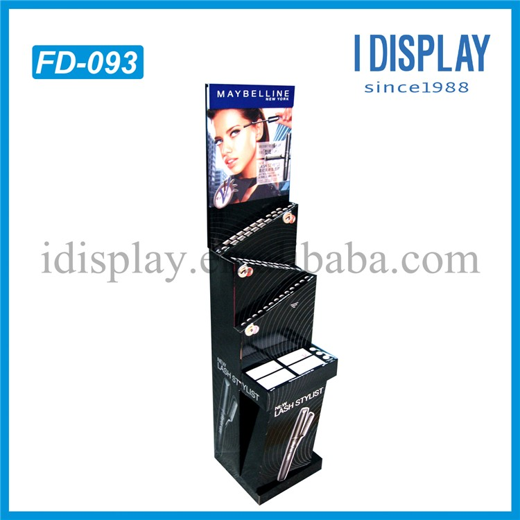 4C Printing Black Cosmetic Display Stand Eyelash Brush Wall Display