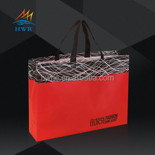 Custom Fashion Chinese Red Non Woven Shopping Bag for Fair
