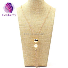 European and American fashion contracted increase pearl necklace pendant long tassel sweater chain clothing accessories accesso