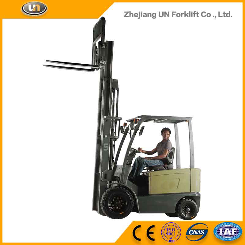 Warehouse Super Market Use 3 Ton Triple stage Mast 4-Wheel Electric Fork Lift