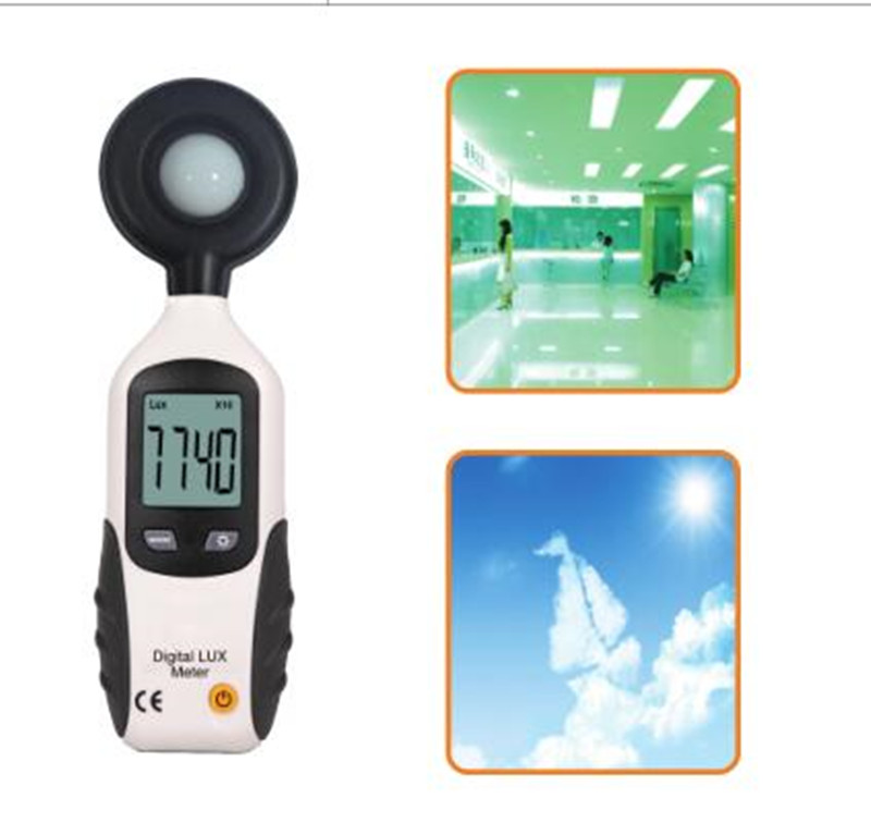 Digital Illuminometer Mini Light Meter Instrument Environmental Testing Luxmeter