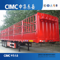 CIMC 3 Axle Animal/Vegetable/Coal Transporting Fence Semi Trailer