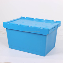 Export plastic collasible container crate for storage with cover plastic crates container