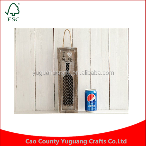 Creative American Retro Home Decorations Ornaments Crafts Furnishings Restaurant Rope handle Wooden Single Wine Bar Wooden Boxes