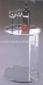 clear acrylic cocktail table or acrylic round small table