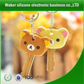 cute cartoon silicone key cap/silicone key cover ,silicone key chains