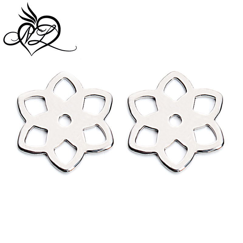 <strong>Fashion</strong> hollow flower steel charm tags custom diy flower charm tags for steel charms jewelry <strong>accessories</strong>