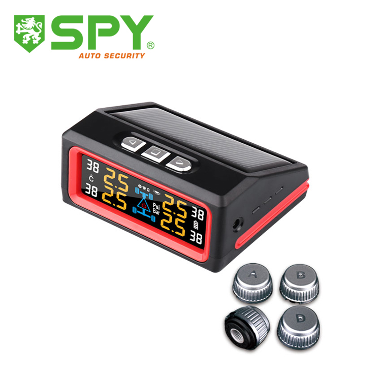 Hot sale TPMS solar power tire pressure monitoring system, digital tire gauge for universal car