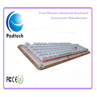 Waterproof White Color Mechanical Gamer Keyboard with Lighting