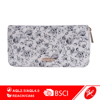 Flower Print Lady Zipper Purse