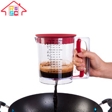 Multifunction Plastic Gravy Grease Seperator,Pancake Batter Dispenser