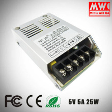 high quality S-25-5 5V 5A 25W ultrathin switching power supply manufactured in China