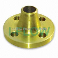 Yellow Golden Painting Weld Neck Flanges For Valve