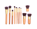 hot sale travel makeup brushes 11pcs bamboo makeup brush set with natural hair