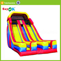 backyard tobo gay cartoon inflatable sliding slip and pool slides aladdin with climbing wall for children