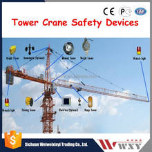 Safety Devices for Tower Crane Anti-collision device load moment indicator