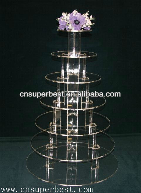 New acrylic cake display stand