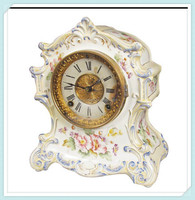 Home table decor porcelain clocks