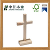 2016latest designed natural handmade Wooden Cross Religious Wooden Cross Natural Small stand Wooden Cross
